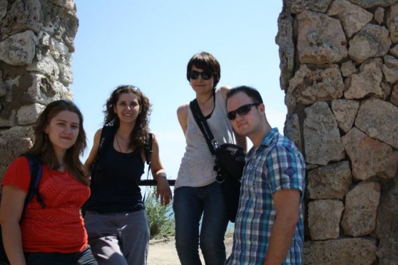 Iliana, Elina, Cristina and Robert in Kaliakra